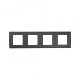 Рамка 4-постовая  Экопласт LK45 черный бархат