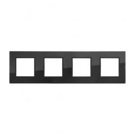 Рамка 4-постовая из натурального темного стекла LK45 Экопласт