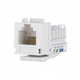 Механизм розетки компьютерной RJ-45. кат.5е. UTP модуль (8 контактов) Экопласт LK45
