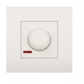 Светорегулятор поворотный нажимной 600 Вт Экопласт LK45 белый