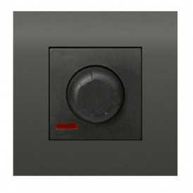 Светорегулятор поворотный нажимной 600 Вт Экопласт LK45 черный бархат