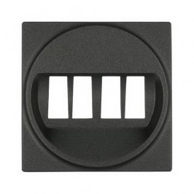 Накладка аудио-розетки Экопласт LK45 черный бархат