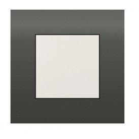 Рамка 1-постовая (черный бархат) LK45   854108  Экопласт