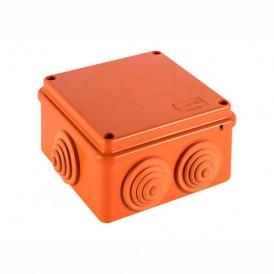 JBS100 коробка огнестойкая E60-E90  100х100х55 6 вых., IP55, 4P (0,15-2,5) Экопласт