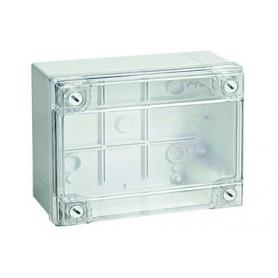 Коробка ответвительная  120х80х50 мм с гладкими стенками прозрачная IP56 ДКС