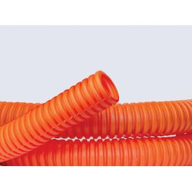 Труба гофрированная ПНД 25 мм с протяжкой тяжёлая (50м) ДКС