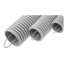 Труба ПВХ гофрированная 20 мм c зондом легкая (100м)