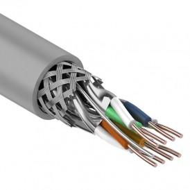 Rexant Кабель витая пара, SF/FTP, категория 7, 4 x 2 x 0,57 мм, PVC, внутреннний, серый, 305м