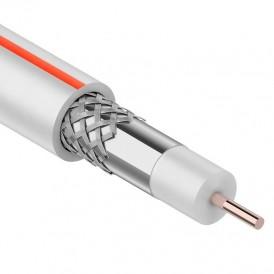 Кабель коаксиальный PROconnect SAT 50M, 75 Ом, CCS/Al/Al, 75%, бухта 20 м, белый