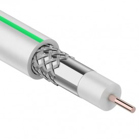 SAT 703 B,  CCS/Al/Al 75%, белый, 100м,  PROconnect