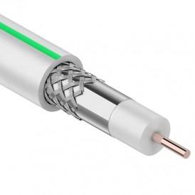 Кабель коаксиальный PROconnect SAT 703B, 75 Ом, CCS/Al/Al, 75%, бухта 50 м, белый