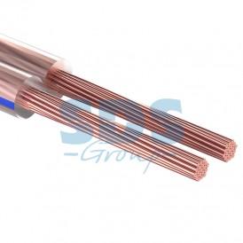 Кабель акустический REXANT 2х0,75 мм², прозрачный BLUELINE, мини-бухта 5 м