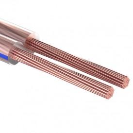 Кабель акустический REXANT 2х2,00 мм², прозрачный BLUELINE, мини-бухта 20 м