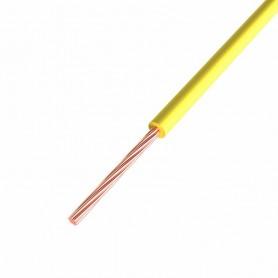 Провод ПГВА REXANT 1х0.75 мм², Cu, желтый, бухта 200 м