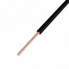 Провод ПГВА REXANT 1х0.50 мм², Cu, черный, бухта 500 м