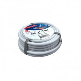 Провод соединительный ПВС 2x0,75 мм², белый, длина 20 метров, ГОСТ 7399-97  REXANT