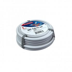 Провод соединительный ПВС 2x0,75 мм², белый, длина 5 метров, ГОСТ 7399-97  REXANT