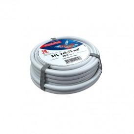 Провод соединительный ПВС 3x0,75 мм², белый, длина 10 метров, ГОСТ 7399-97  REXANT