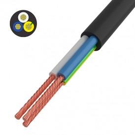 Провод соединительный ПВС 3x0,75 мм², черный, длина 20 метров, ГОСТ 7399-97  REXANT