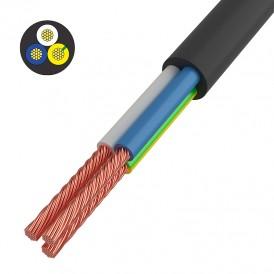Провод соединительный ПВС 3x1,5 мм², черный, длина 5 метров, ГОСТ 7399-97  REXANT