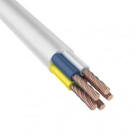 Провод соединительный ПВС 5x6,0 мм², белый, длина 10 метров, ГОСТ 7399-97  REXANT