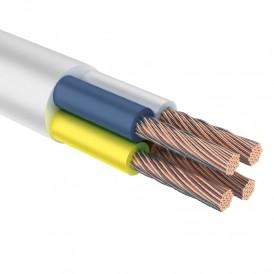 Провод соединительный ПВС 4х1,0 мм² 100 м белый ГОСТ 7399-97