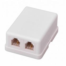 PROconnect Рoзетка телефонная внешняя, 2 порта RJ-11(6P-2C), категория 3, (50 шт/уп)