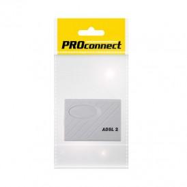 Розетка телефонная PROconnect на стену, ADSL-2 сплиттер, 6Р-4С (RJ-11), пакет БОПП