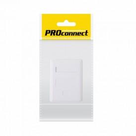PROconnect Рoзетка компьютерная внешняя, 1-порт RJ-45 (8P8C), UTP неэкранированная, категория 5e, пакет, 1шт