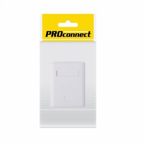 PROconnect Рoзетка компьютерная внешняя, 1-порт RJ-45 (8P8C), FTP экранированная, категория 5e, пакет, 1шт