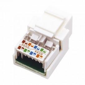 Rexant Модуль Keystone Jack RJ-45(8P8C), UTP неэкранированный, категория 5e, тип 180 градусов, белый