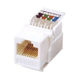 Rexant Модуль Keystone Jack RJ-45(8P8C), UTP неэкранированный, категория 5e, тип 180 градусов,самозажимной, белый