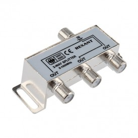 ДЕЛИТЕЛЬ  ТВ х 3 под F разъём 5-1000 МГц   05-6002   REXANT