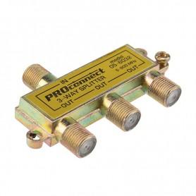 ДЕЛИТЕЛЬ  ТВ  х 3 под F разъём  5-900 МГц   05-6032   PROconnect