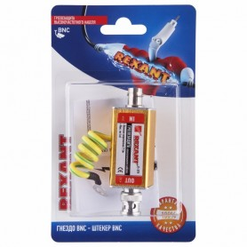 Грозозащита высокочастотного кабеля, (гнездо BNC - штекер BNC), (1шт.)  REXANT