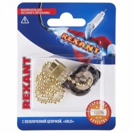 Выключатель для настенного светильника REXANT, золотой, 1 шт.