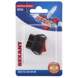 Выключатель клавишный 250V 15А (6с) ON-ON красный  с подсветкой (RWB-506, SC-767)  REXANT (в упак. 1шт.)
