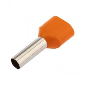 Наконечник штыревой втулочный изолированный F-12 мм 2х4 мм² (НШВи(2) 4.0-12/НГи2 4,0-12) оранжевый REXANT