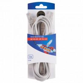 Rexant Пaтч-корд U/UTP, категория 5e, RJ45-RJ45, неэкранированный, PVC серый, 3м