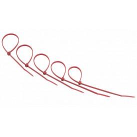 Хомут-стяжкa нeйлонoвая REXANT 200x3,6 мм, красная, упаковка 25 шт.