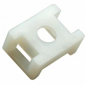 Площадка для крепления стяжки REXANT (ПС-2) 22x16 мм, белая, упаковка 10 шт.