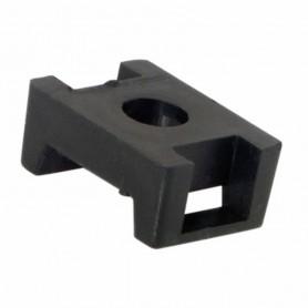 Площадка для крепления стяжки REXANT (ПС-2) 22x16 мм, черная, упаковка 10 шт.