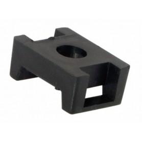 Площадка для крепления стяжки REXANT (ПС-2) 22x16 мм, черная, упаковка 100 шт.