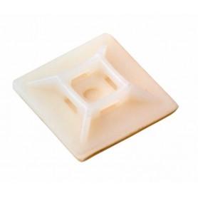Площадка под винт самоклеящаяся REXANT 28х28 мм, белая, упаковка 100 шт.