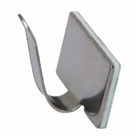 Площадки самоклеющиеся металлические с клипсой под шлейф REXANT (ПКШМ) 20x10 мм, упаковка 10 шт.