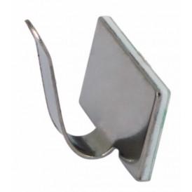 Площадки самоклеющиеся металлические с клипсой под шлейф REXANT (ПКШМ) 20x10 мм, упаковка 100 шт.