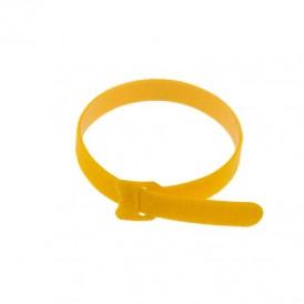 Хомут–липучка многоразовый 320х14 мм, желтый (упак. 12 шт.) REXANT
