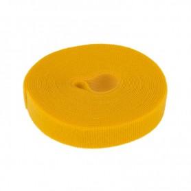 Лента-липучка многоразовая 5 м х 20 мм, желтая (1 шт.) REXANT