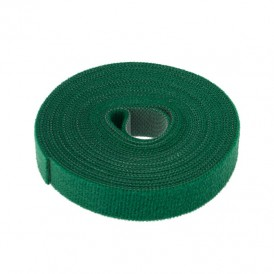 Лента-липучка многоразовая 5 м х 20 мм, зеленая (1 шт.) REXANT