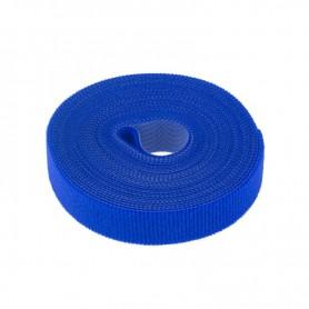 Лента-липучка многоразовая 5 м х 20 мм, синяя (1 шт.) REXANT